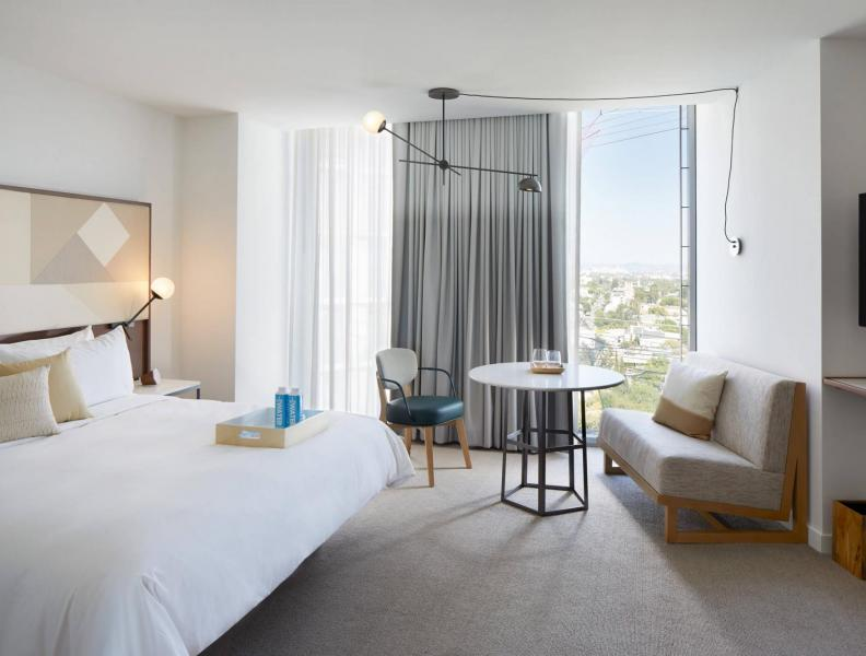 Skyline King suite at Jeremy Hotel West Hollywood