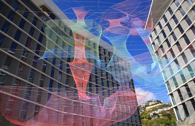 "Public Art ""Dream Catcher"" in West Hollywood"