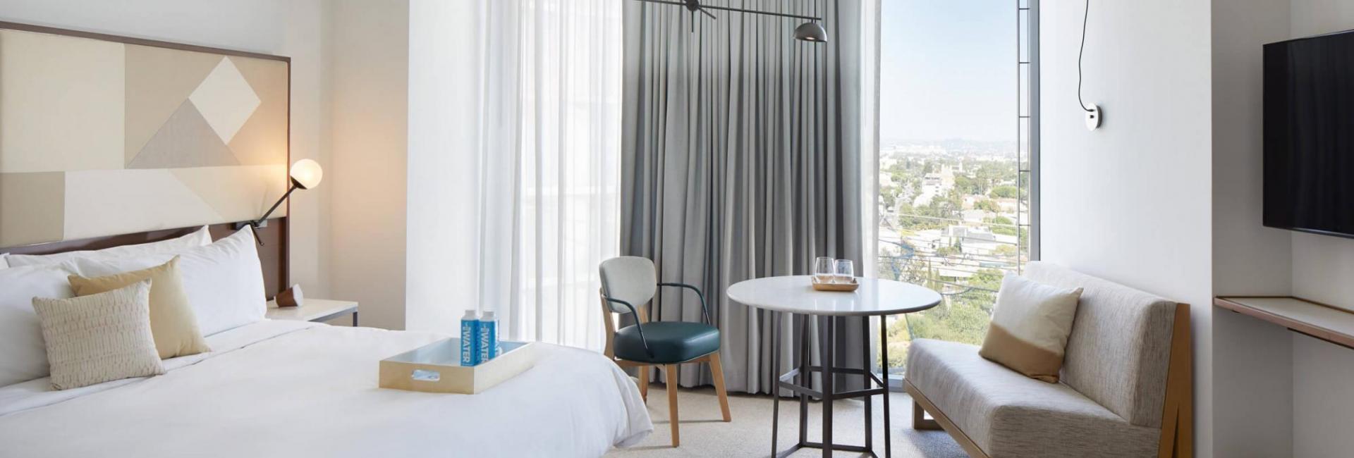 Skyline King suite at Jeremy Hotel West Hollywood