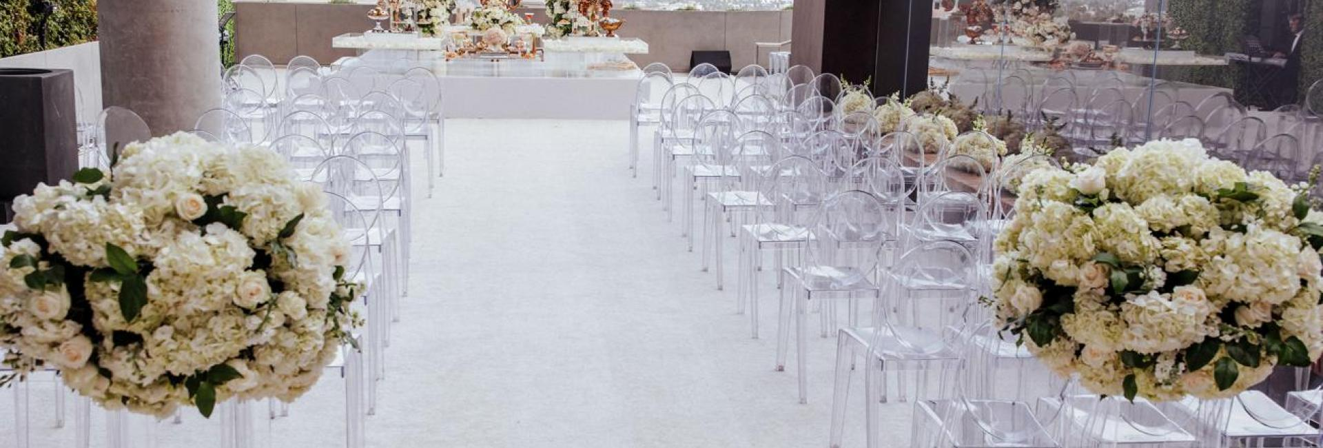 wedding aisle on the rooftop