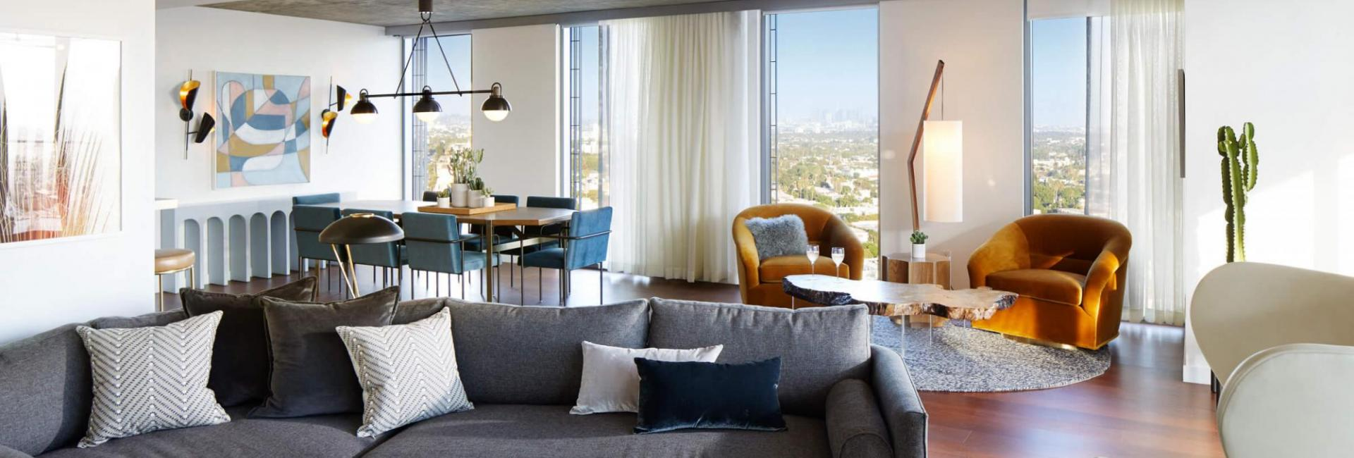 canyon penthouse at the Jeremy Hotel West Hollywood