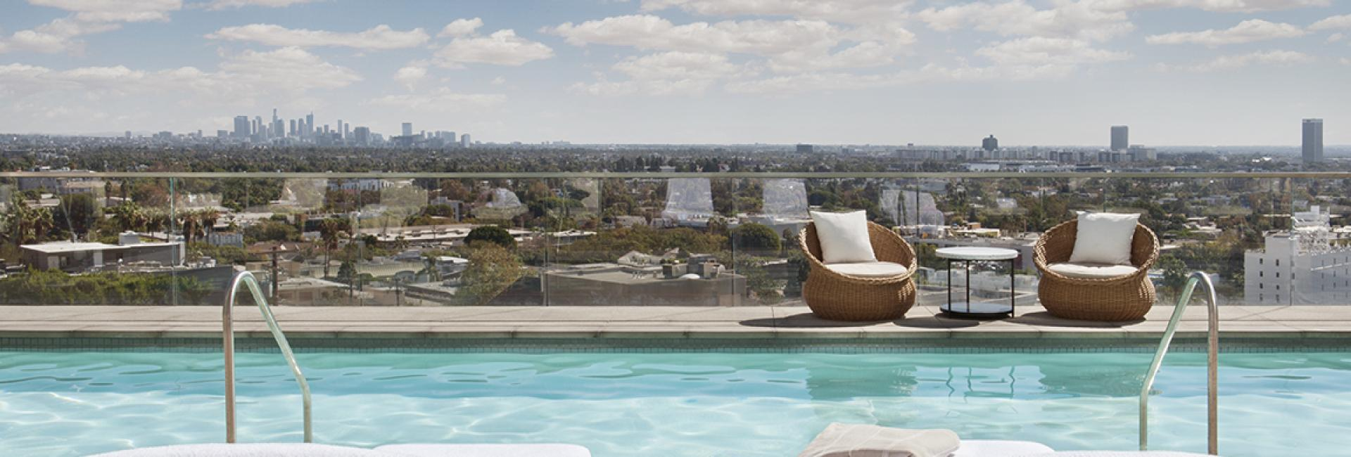 The Rooftop Pool Deck at Jeremy Hotel West Hollywood